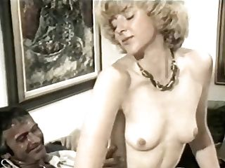 Milky-skinned Antique Lady Squats On Fleshy Hard Pecker