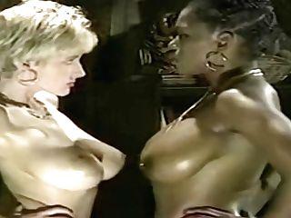 Dark-hued Sapphic Interracial Pleasure