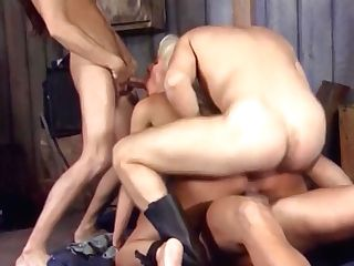 Beautiful Platinum-blonde Bitch Double Penetration Threesome, Helen...