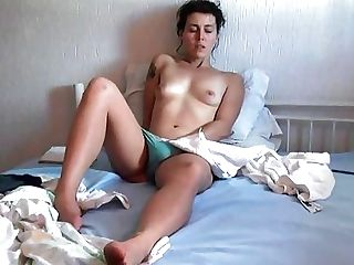 80s Female Senses Horny And Strokes Her Hairy Honeypot Before...